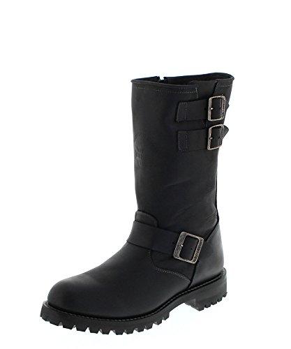 da BootsD96101 FB Fashion Uomo Black Stivali Motociclista qpxtAf