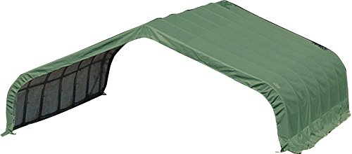 ShelterLogic Peak Style Run-In Shelter, Green, 22 x 20 x 10 ft.