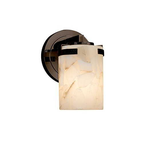 Wire Mesh Cylinder with Flat Rim Wire Mesh Shade Atlas 1-Light Wall Sconce Brushed Nickel Finish