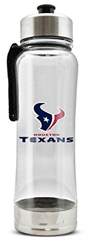 Bottle Water Houston (NFL Houston Texans 20oz Clip-On Clear Plastic Water Bottle)
