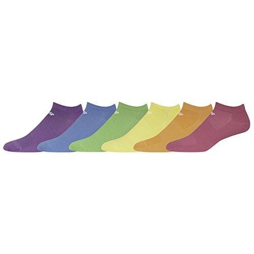 Free New Balance, Lifestyle No Show Socks 6 Pairs MULTI Medium