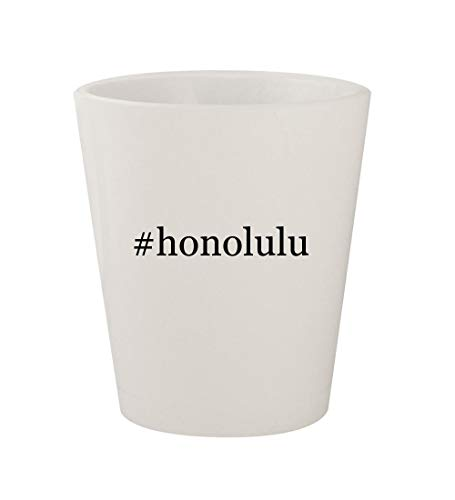 #honolulu - Ceramic White Hashtag 1.5oz Shot Glass