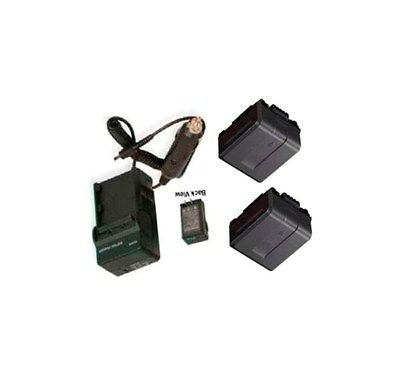 2 Batteries + Charger for Panasonic HDC-DX1P, Panasonic HDC-DX1PC, Panasonic HDC-DX3, Panasonic HDC-HS9, Panasonic HDC-HS9P by photo High Quality