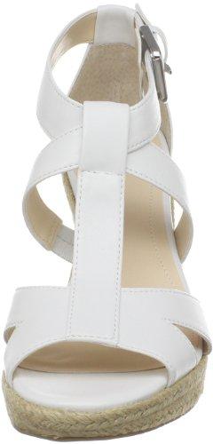 Calvin Klein Donna Emmah Open-toe Espadrillas Bianco Antico Liscio