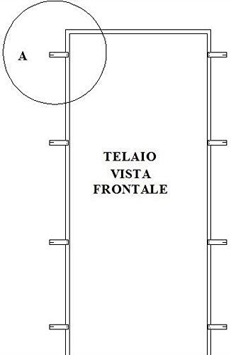 Falso Telaio Pportone Blindato 90x210 90 Amazonit Fai Da Te