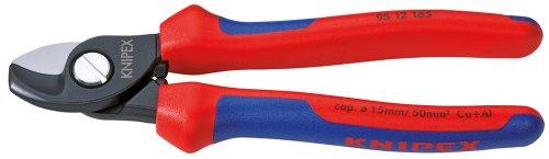 KNIPEX 95 12 165 Kabelschere mit Mehrkomponenten-Hüllen 165 mm