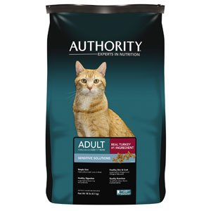 Authority Sensitive Solutions Adult Dry Cat Food -18 lb