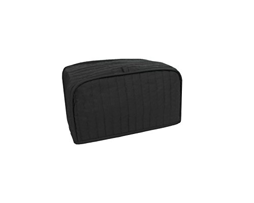 RITZ Polyester / Cotton Quilted Toaster Oven Cover, Black