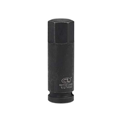 uxcell 六角ビットソケット クロムモリブデン鋼製 ブラック メトリックスタービットソケットレンチ