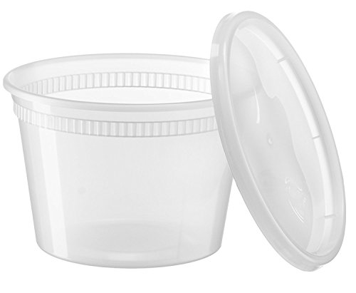 Home Deli Food Storage Containers with Lid (40, 12 Ounce)