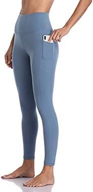 Colorfulkoala Women's High Waisted Yoga Pants 7/8 Length Leggings with Poc