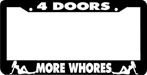 Doors More Whores JDM License Plate Frame