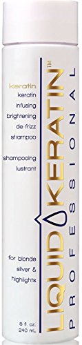 Liquid Keratin Infusing Brightening De-Frizz Shampoo for Blonde / Silver & Highlights, 8 fl. oz. -