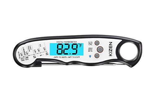 Instant Read Thermometer – Waterproof with Backlight and Calibration