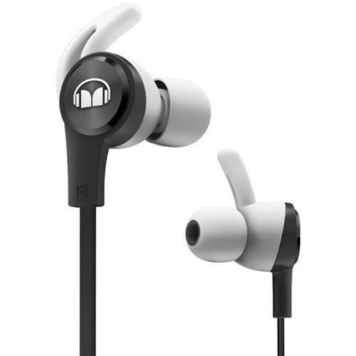 Monster iSport Achieve In-Ear Sports Headphones with Microphone in Black, Running, Sweatproof