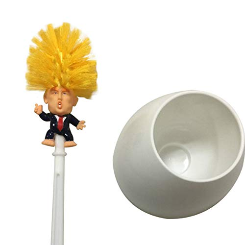 Donald Trump Toilet Brush Cleaner, Funny Toilet Scubber, Make Toilet Great Again, Commander in Crap