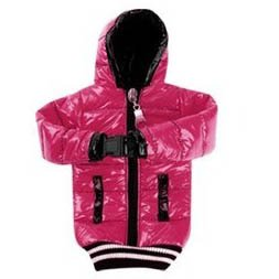SaveGood Down Jacket Pouch Neck Lanyard Rope Bag case Cover for Apple iphone 3 3G 3S 4 4G 4S (Hot Pink)