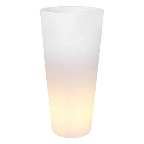 Elho 3310813910004 Pflanztopf Pure Straight High LED Light Durchmesser 40 x 80 cm