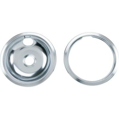 Price comparison product image 8 in. Chrome Pan with Trim Ring Combo Set by GE Parts