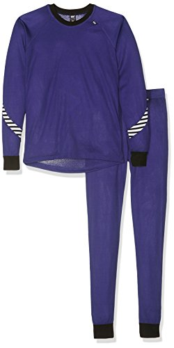 Helly Hansen Junior Kids Lifa Dry Baselayer Thermal Underwear Shirt and Pant Set, 148 Lavender, Size 8 (Hansen Long Underwear Helly)