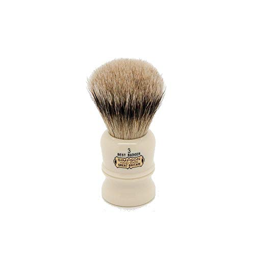 (Simpson Shaving Brushes Duke D3 B Best Badger Handmade British Shaving Brush by Progress Shaving Brush (vulfix) Ltd)