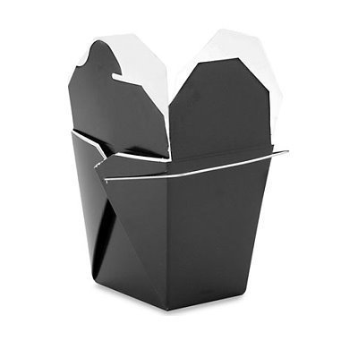 Chinese Take Out Food Boxes: 16 Oz. (1 Pint) Pack of 25 - Black