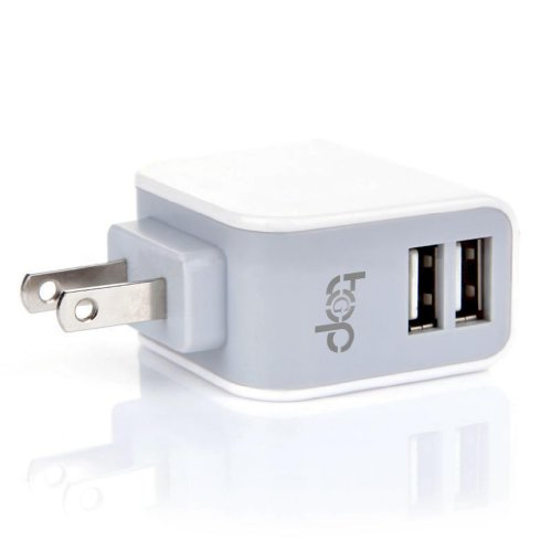 TopG 15W / 3.1A Dual-Port USB Wall Charger / Portable Travel Charger - Simultaneous, full-speed charging