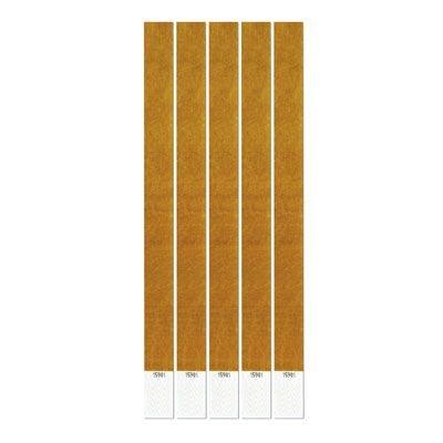IdealWigsNet Bracciali Dorati di Tyvek - Confezione da 100 - 25,4 cm