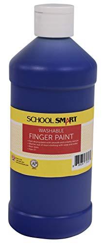(School Smart Washable Finger Paint, Blue, 1 Pint)