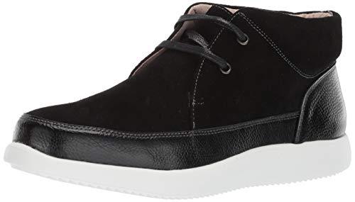 - STACY ADAMS Men's Buckley Moc Toe Lace-Up Chukka Boot Sneaker, Black, 7.5 M US