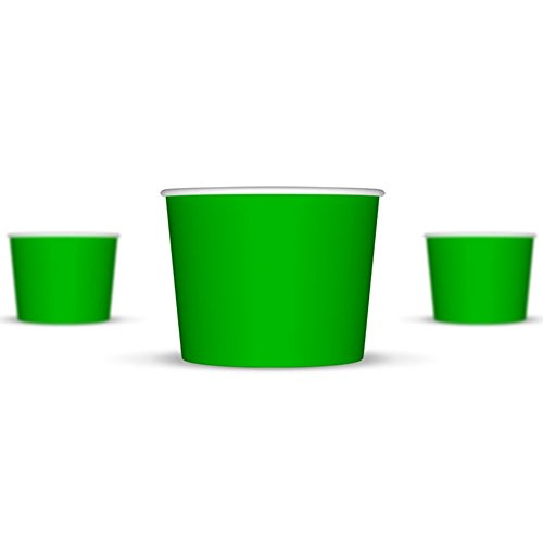 12 oz Ice Cream Cups, Green Paper Cups, Birthday Party Cups-These Disposable Containers Are What You Need For Your Party, These Frozen Dessert Cups Are Great For Ice Cream, Or Other Sweet Treats! (Frozen Yogurt Paper Cups compare prices)
