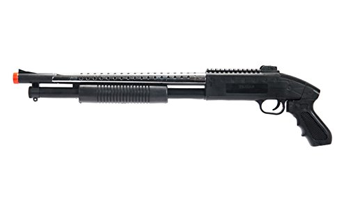 bbtacairsoft shotgun pump action bt-590s (silver) - pistol grip airsoft shotgun - tactical top rail - high bb capacity - 400 fps+ w/ 6mm 0.12g bbs with bbtac warranty & tech support(Airsoft Gun)