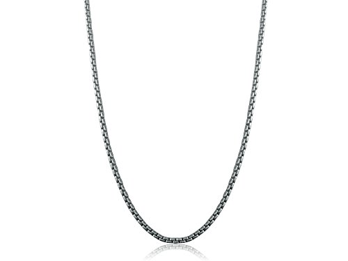 Ritastephens Sterling Silver Designer Inspired Round Box Link Chain 2.5 Mm Wide 22 Inches