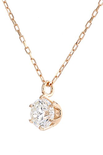 Diamond Necklace Solitaire Pendant for Women Choice of 18ct White Gold, Yellow Gold Rose Gold or Platinum (900) - Diamonds Certified Conflict Free and Natural (Rose-Gold, 0.20)