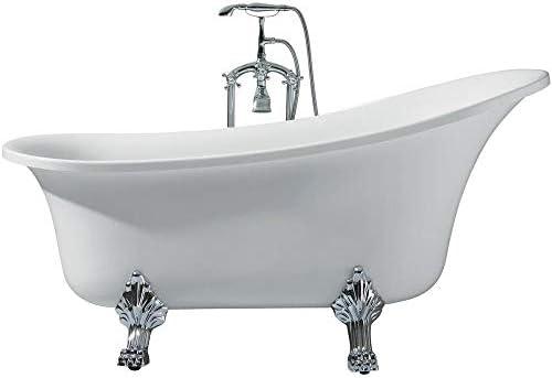 DKB Laguna UB006-6327 Freestanding Acrylic Soaking Bathtub 63 x 27