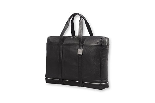 Moleskine Lineage Briefcase, Leather, Black by Moleskine