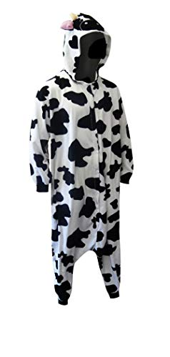 (Spotted Cow Low Rider Hooded Onesie Pajama for men (One)