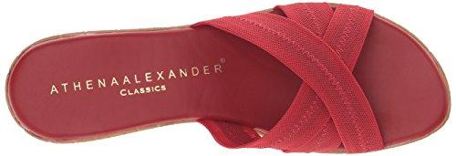 Alexander Athena Red Wedge Women's Stretch Optima Sandal Udwgf