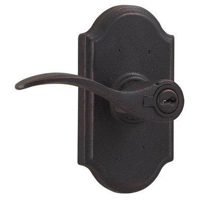 Weslock 7140H-LH Carlow Left Handed Single Cylinder Keyed Entry Door Lever Set w, Oil Rubbed Bronze
