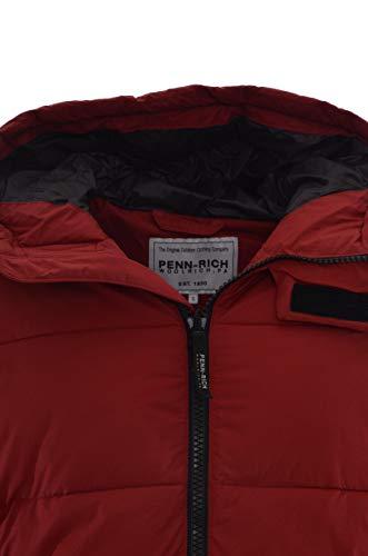 Zip Woolrich Rosso By Penn Wycps0521 Cappuccio Uomo Giubbotto Con rich Chiusura Bxqw84PA