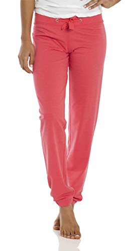 VBRANDED Women's Midweight Relaxed Fit Jogger French Terry Pants Coral M by VBRANDED