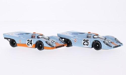 Porsche 917K, RHD, No.24, JWA-Gulf racing team, 1000km Spa, 1970, Model Car, Ready-made, Brumm ()