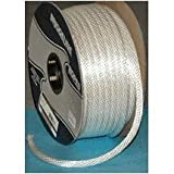 CORDAGE SOURCE Solid Braided Nylon Rope, 1/2-Inch by 250-Feet, White
