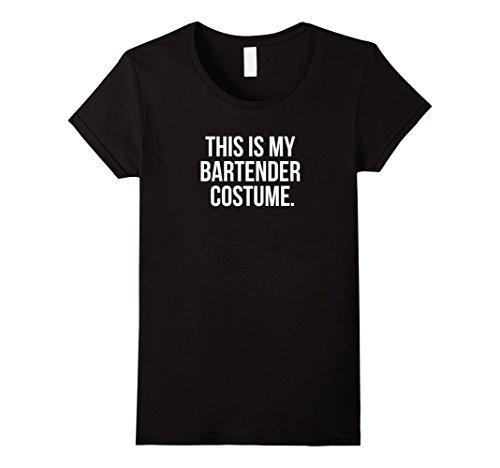 Simple Bartender Halloween Costumes (Womens This my Bartender Costume funny halloween tee shirt gift XL Black)