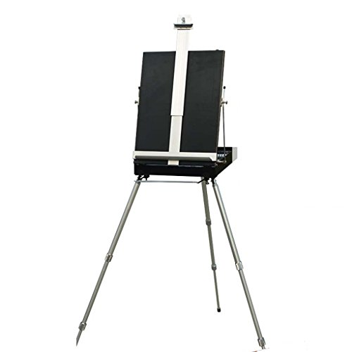 Easels Adult Aluminum Field For Painting - Adjustable Drawing Tripod, Holder, Stand With Handy Carrying Storage Bag For Outdoor Table-Folding Art Bracket Top Floor Drawing Field Painting Sketching ()