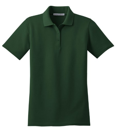 Port Authority Ladies Stain-Resistant Sport Shirt, XXL, Dark Green