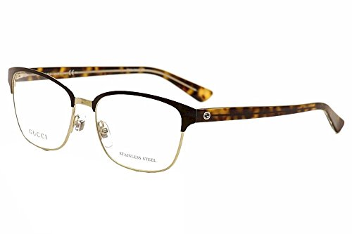 Gucci Gucci 4272 02CS Light Gold Brown Havana Crystal - Eyeglasses Mens Gucci Gold