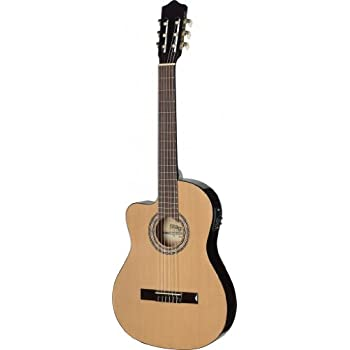 Stagg C546TCE LH N Thin Body Left Handed Cutaway Acoustic Electric Classical Guitar