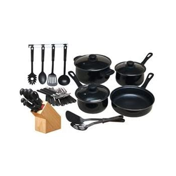 Chef's Du Jour 32-Piece Kitchen Combo Set, Black