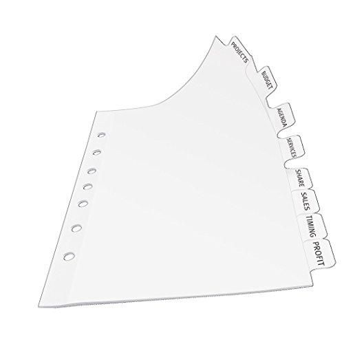 31qL0SGUQOL amazon com avery mini index maker clear label dividers with on avery ready index 5 tab template